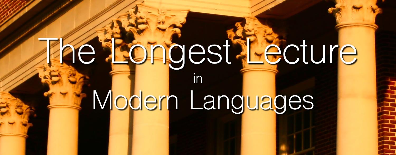 Longest Lecture