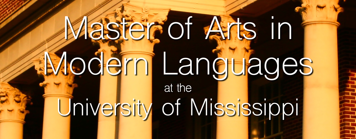 Master of Arts in Modern Languages